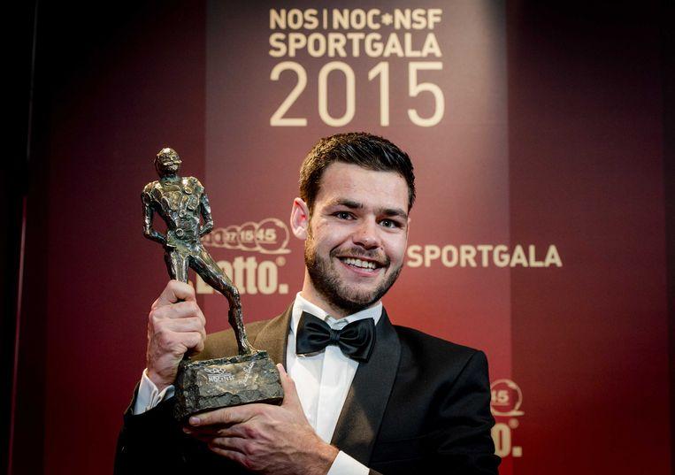 2015-12-15 22:43:29 AMSTERDAM - Sjinkie Knegt is op het NOC*NSF Sportgala uitgeroepen tot sportman van het jaar. ANP ROBIN VAN LONKHUIJSEN Beeld ANP