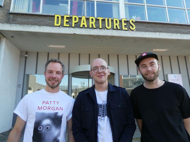 Casper Schipper, Jelmer Wijnstroom en Matthijs Booij van kunstplatform Patty Morgan.