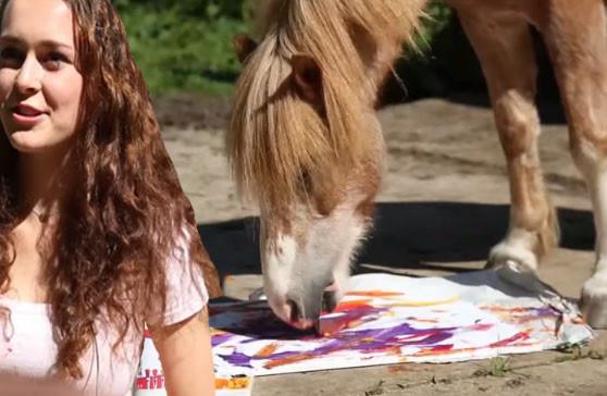 Elodie met pony Teddy.