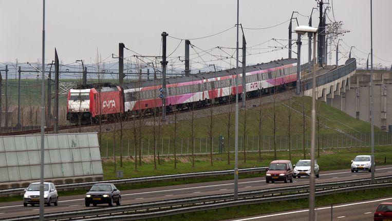 De snelweg A16 ter hoogte van Zevenbergschen Hoek Beeld ANP