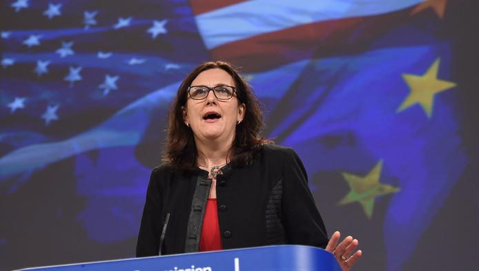 Eurocommissaris Cecilia Malmström, belast met de portefeuille Handel.