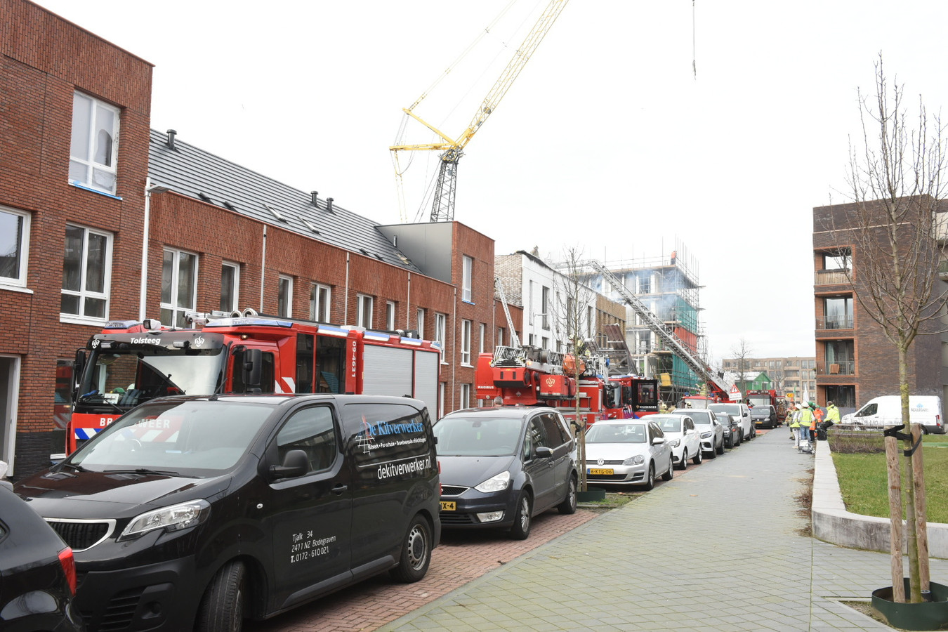 Brand aan de Kruidnagelweg in Utrecht.