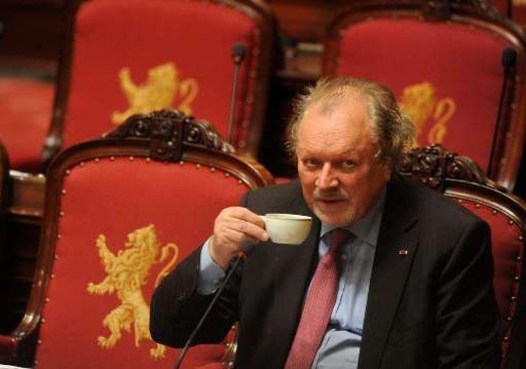 Ook professor Hugo Vandenberghe (CD&V), de éminence grise van de Senaat, raakte niet herverkozen. Beeld UNKNOWN
