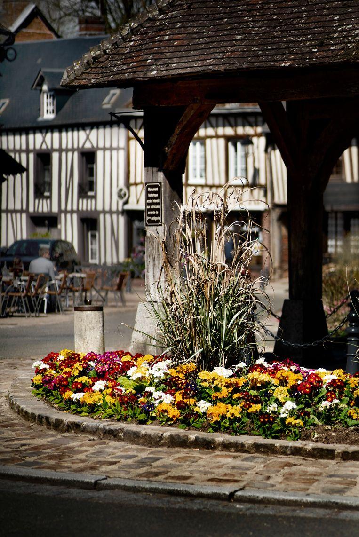 Bloemen in het straatbeeld. Lyons heeft sinds tien jaar de 'quatre fleurs' op zijn naam staan, de trots van het dorp. Franse bloemenconcoursen zijn een bloedserieuze aangelegenheid. Beeld Eric de Mildt
