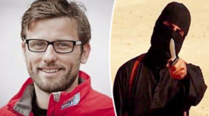 De Italiaanse hulpverlener Federico Motka (links) en zijn ontvoerder Jihadi John.