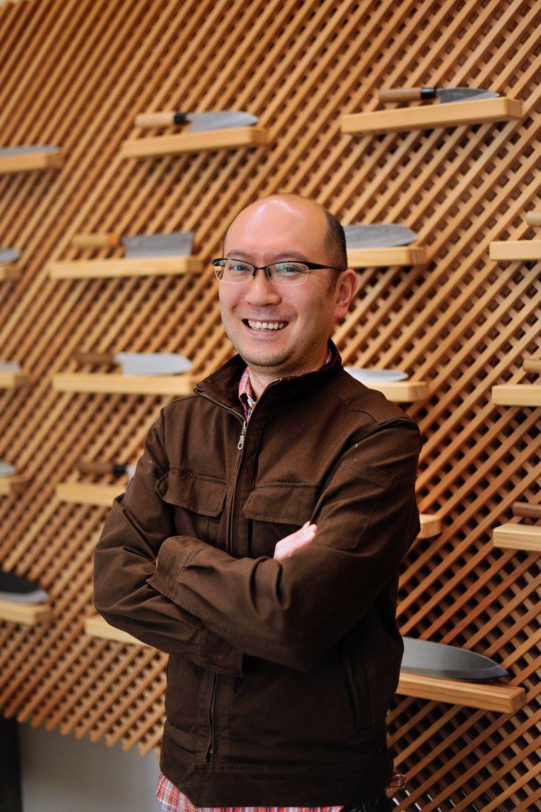 De grote baas Tadayuki Sone en medeorganisator van het Factory Festival. Beeld DAVID DE VLEESCHAUWER