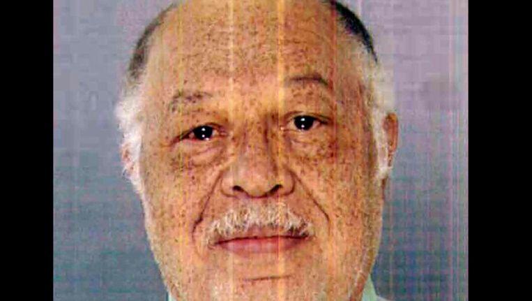 De veroordeelde arts Kermit Gosnell op een foto die beschikbaar is gesteld door het Openbaar Ministerie. Beeld ap