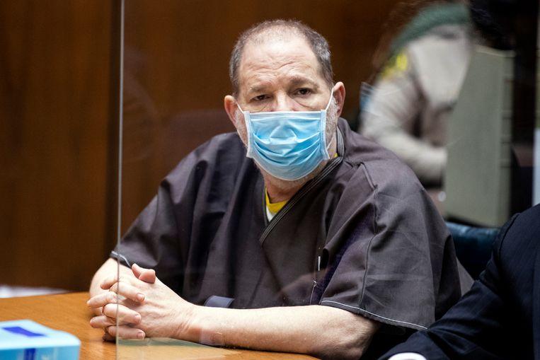 Weinstein donderdag tijdens de zitting in Los Angeles. Beeld AP
