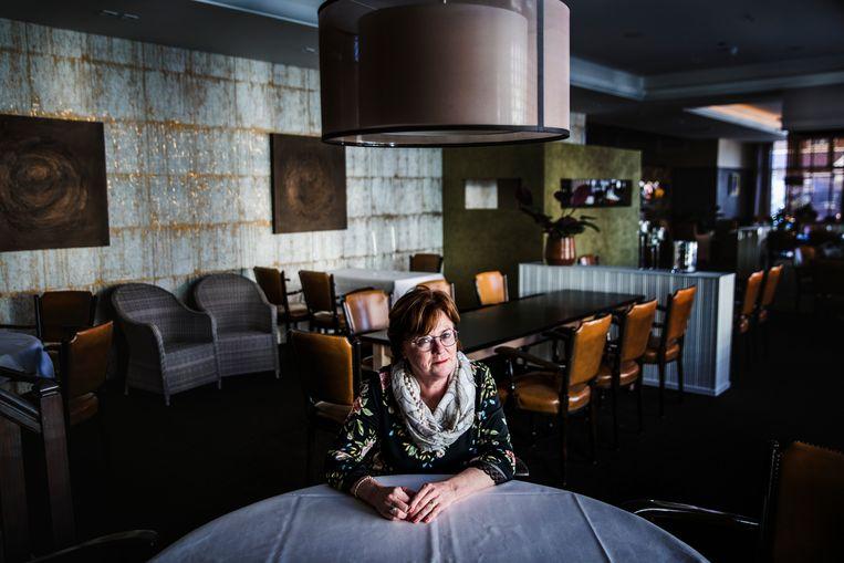 Uitbaatster Patricia de Milliano van Hotel Restaurant De Eenhoorn. Zij en haar man moeten de 10 duizend euro loonsubsidie die ze in het voorjaar van 2020 ontvingen volledig terugbetalen. Beeld Aurélie Geurts