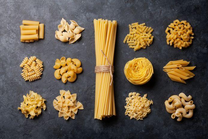 Pasta kan vele vormen aannemen.