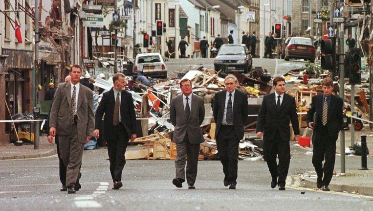 1998: ravage na de bomaanslag in het Noord-Ierse Omagh. Beeld afp