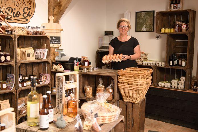 In de winkel verkoopt Rian Jannink ook producten van andere lokale producenten.