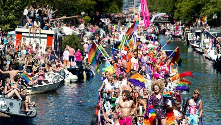 De Canal Parade is dit jaar op zaterdag 6 augustus Beeld anp