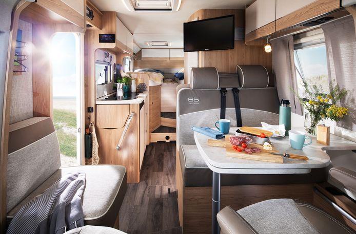 De moderne camper of caravan is van alle gemakken voorzien.