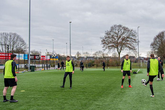Stefan Jansen of Lorkeers, Erik Koedijk, Koen Sloot, Alexander Habers trainen allen apart van de groep in verband met de huidige corona regels.    DS-2021-7979