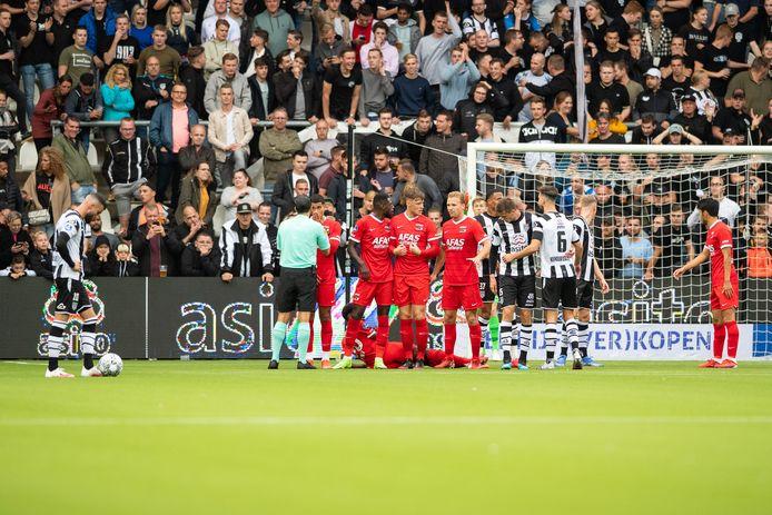 AZ verloor zondag van Heracles Almelo door een vrije trap van Rai Vloet in blessuretijd.   during the match Heracles - AZ