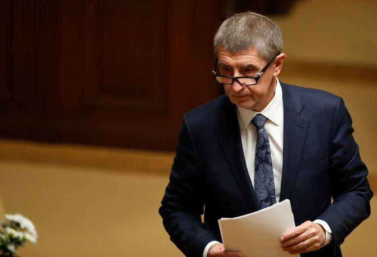 De Tsjechische eerste minister Andrej Babis