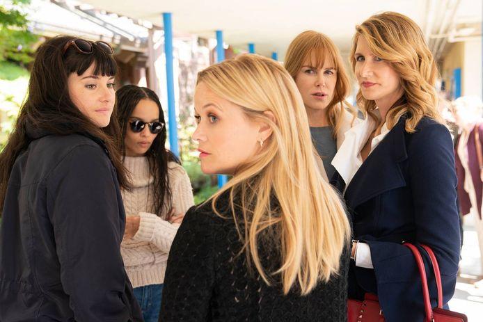 Shailene Woodley, Zoë Kravitz, Reese Witherspoon, Nicole Kidman en Laura Dern