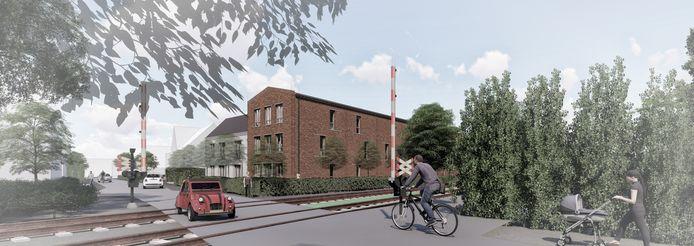 De nieuwbouw van het complex bij het spoor in Wehl.