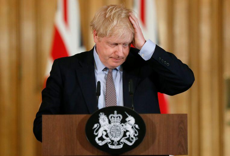 De Britse premier Boris Johnson. Beeld AP