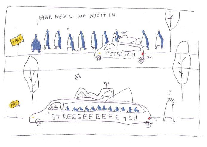 stretch taxi.
