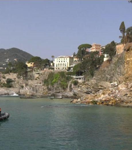 Tweehonderd doodskisten vallen in zee na instorten klif Italië