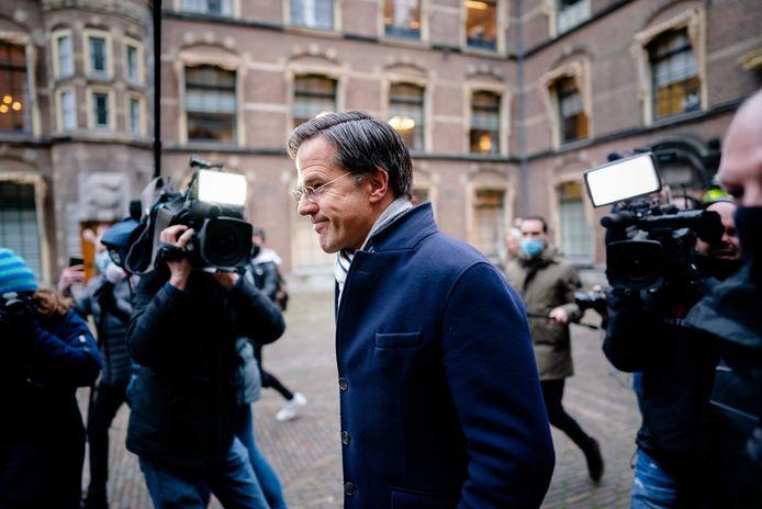 Premier Mark Rutte na afloop van de ministerraad op het Binnenhof.