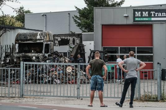 Een dag na de vernietigende brand in Doesburg. De schade is groot.