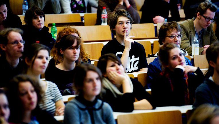 De stijging van het aantal internationale studenten aan de UvA is zo fors, dat de universiteit zich zorgen maakt over de toegankelijkheid van studies. Beeld ANP