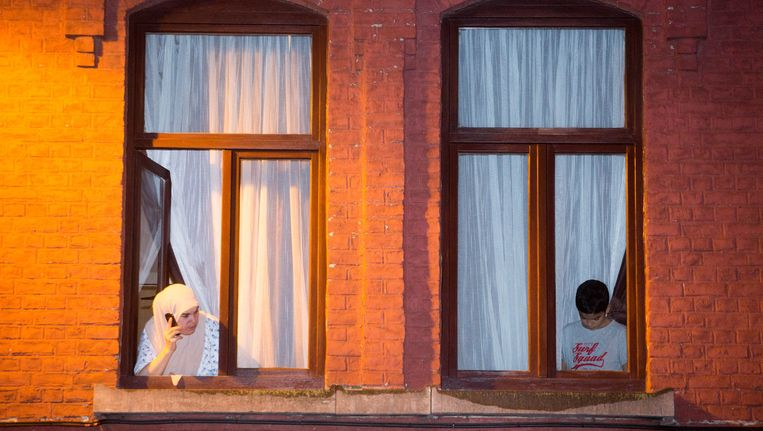 Ongeveer 40 procent van de bevolking in Molenbeek is moslim. Beeld Photo News