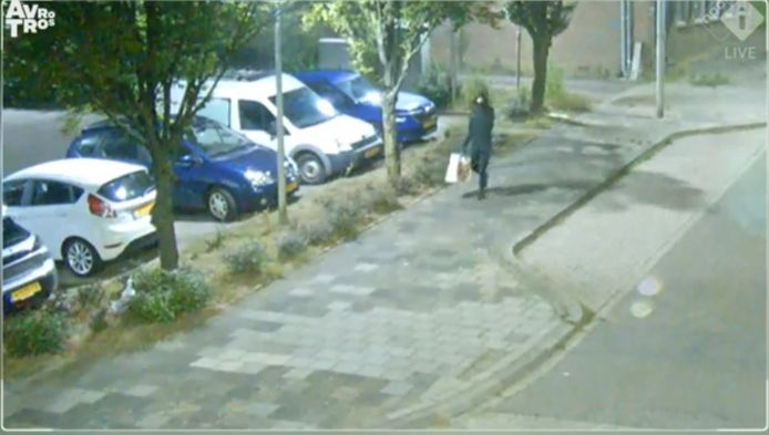 Te zien was hoe hij de verdachte auto een heel eind van de plek waar het explosief werd neergelegd, parkeerde. Vervolgens met een tas van supermarkt Lidl 'aan de wandel ging' om daarna een lang snoer uit te rollen en een explosief neer te leggen.