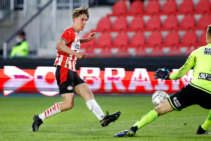 Dennis Vos wist het net niet te vinden tegen FC Volendam.