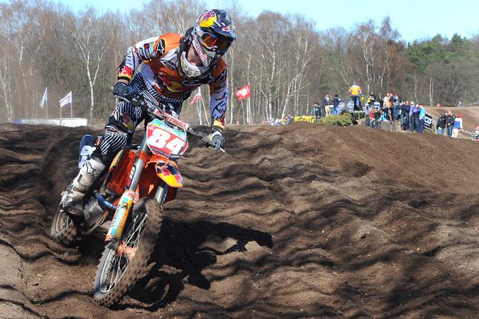 Een jonge Jeffrey Herlings, tegenwoordig in Oploo wonend, liet in 2012 in Mill al zijn klasse zien als motorcrosser.
