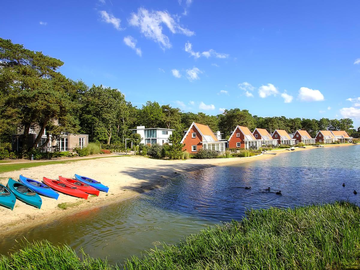 De Zanding in Otterlo, een van de Veluwse resorts van Droomparken.