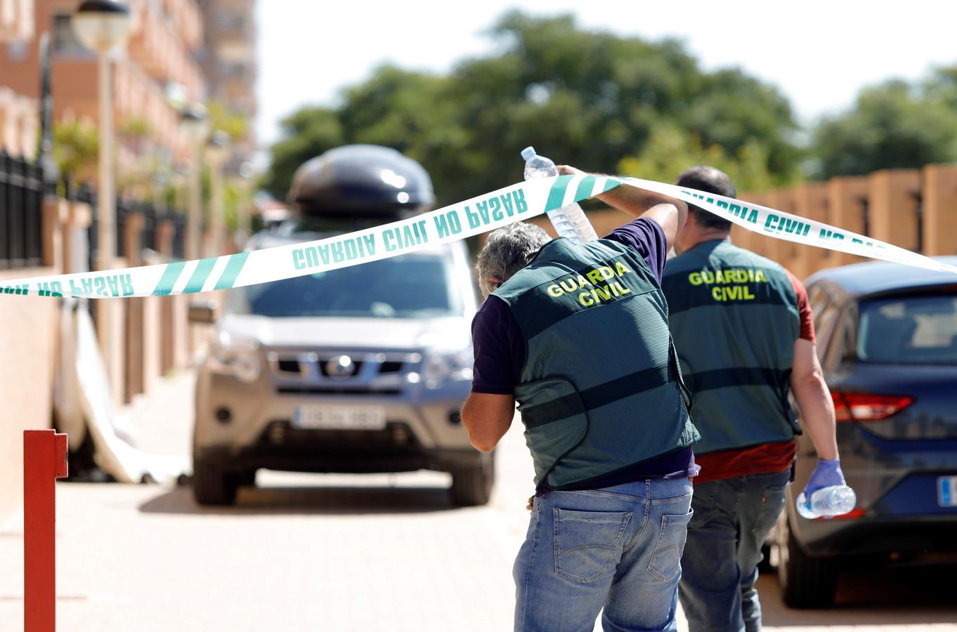 Foto ter illustratie. Spaanse politie.