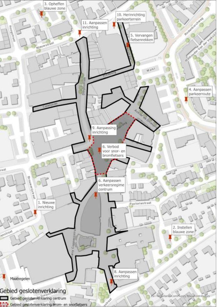 Overzicht van de maatregelen in het centrum van Rosmalen.