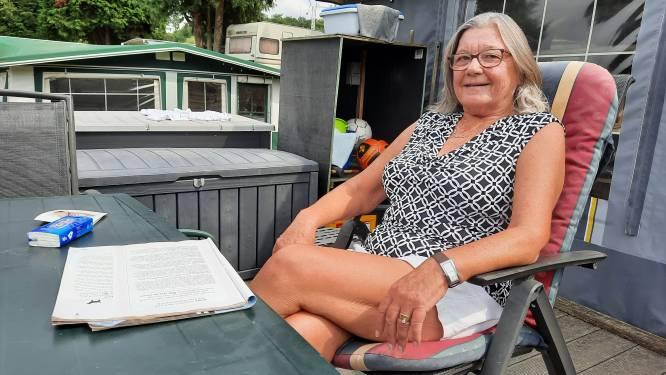 """Ingrid Lagaisse staat al 16 jaar op Camping Panorama in Ruien. """"We waren in het Kluisbos eerder al 's in slaap gevallen en dachten: daar is het rustig"""""""