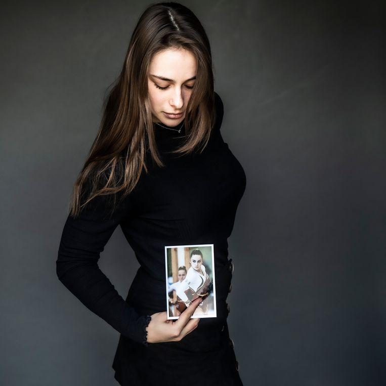 Cindy Vandenhole: 'Ik wilde niet, zoals andere gymnastes, mijn regels pas krijgen op mijn 22ste, of nog later, of niet.' Beeld Saskia Vanderstichele