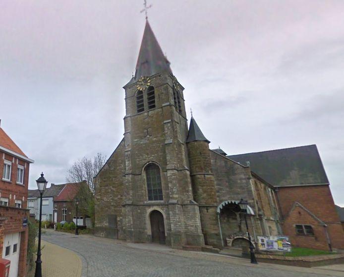 De kerk in Iddergem.