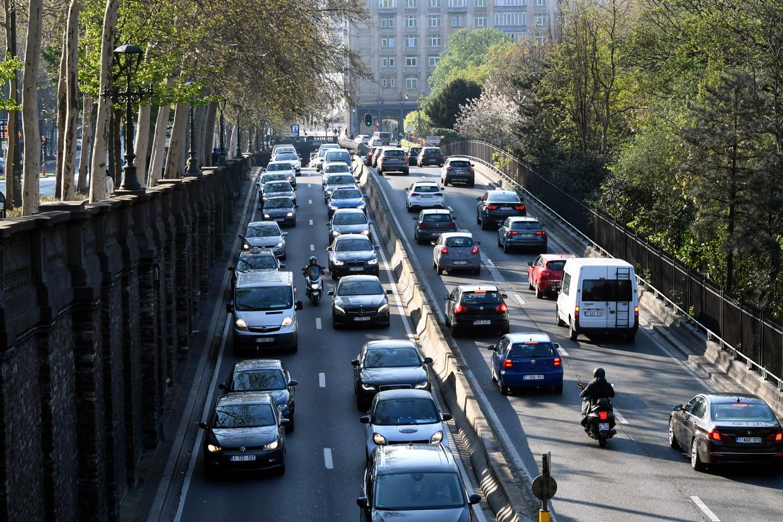 File op de Brusselse kleine ring. De kilometerheffing moest de verkeersproblemen mee tegengaan.  Beeld Peter Hilz