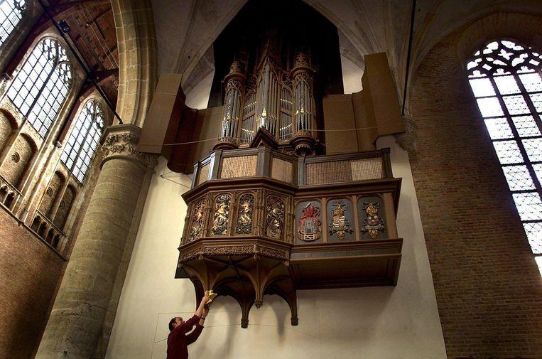 Het orgel in de Grote Sint Laurens kerk in Alkmaar. Heftige orgelmuziek schrikt de ene autist af, terwijl een ander heel beslist vindt dat een dienst zonder orgel niet hoort. Beeld  ANP, Olaf Kraak