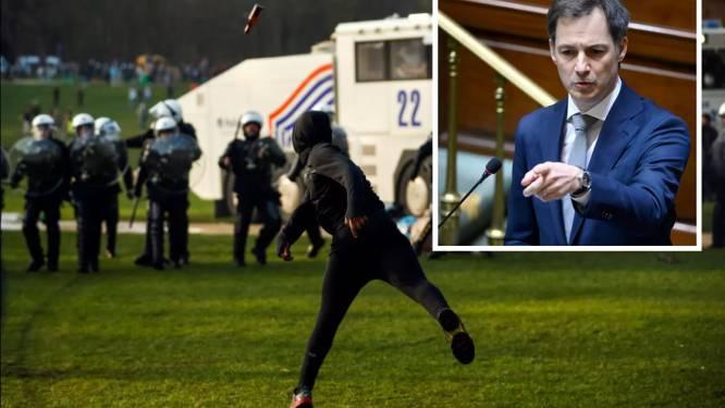 """De Croo na totaal uit de hand gelopen La Boum: """"Alle steun aan gekwetste politiemensen"""""""