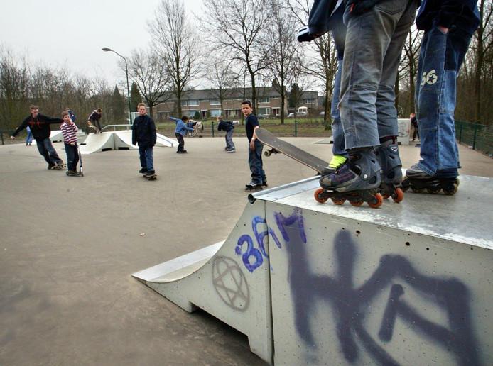 De nieuwe Jongeren Ontmoetingsplek in Waalre zou moeten komen bij de skatebaan.