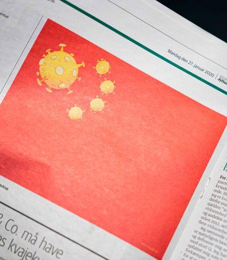 Cette caricature du drapeau chinois dans un journal danois n'a pas plu à la Chine