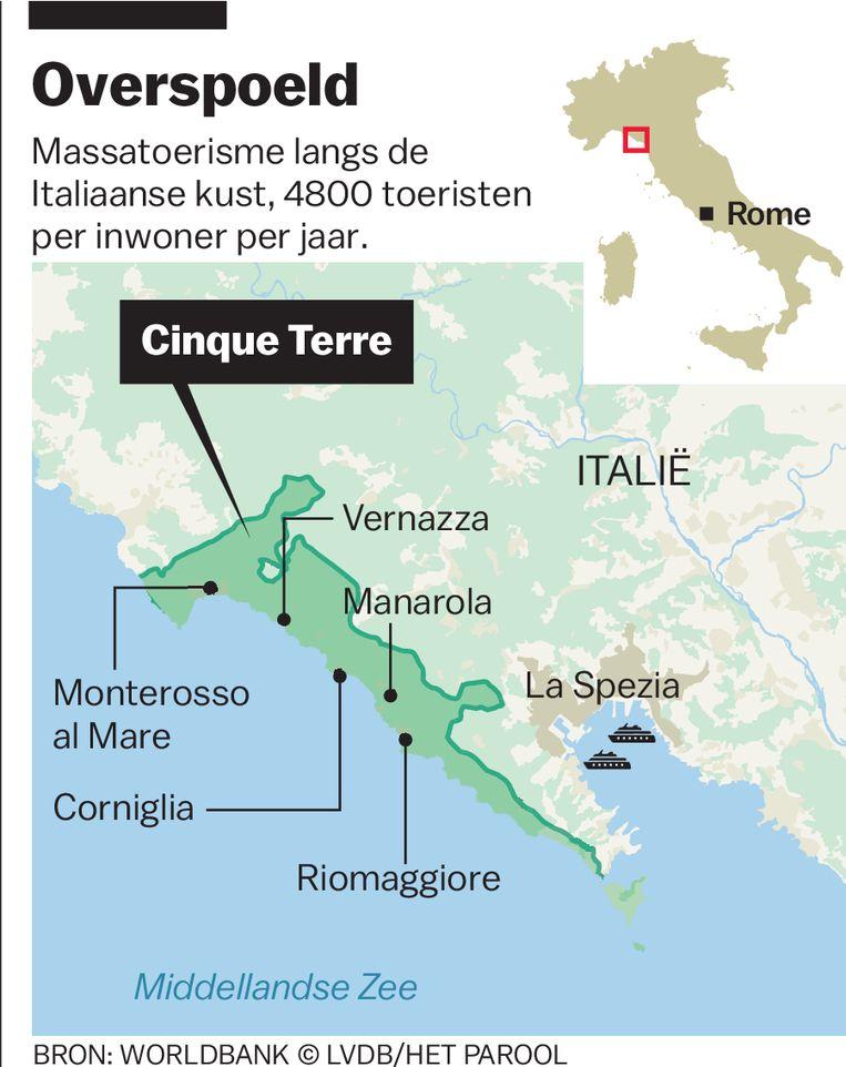 Massatoerisme in Italië. Beeld Laura van der Bijl