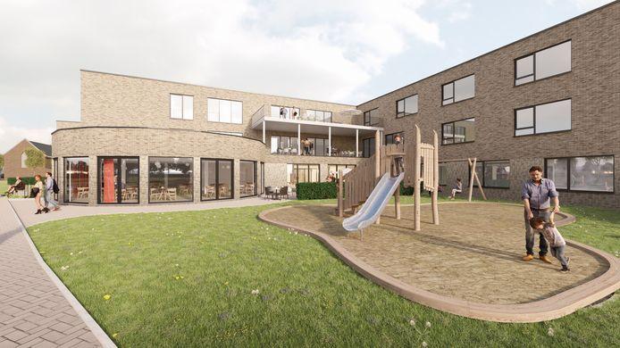 Het ontmoetingscentrum van het toekomstige rusthuis Mariaburcht in Dentergem.