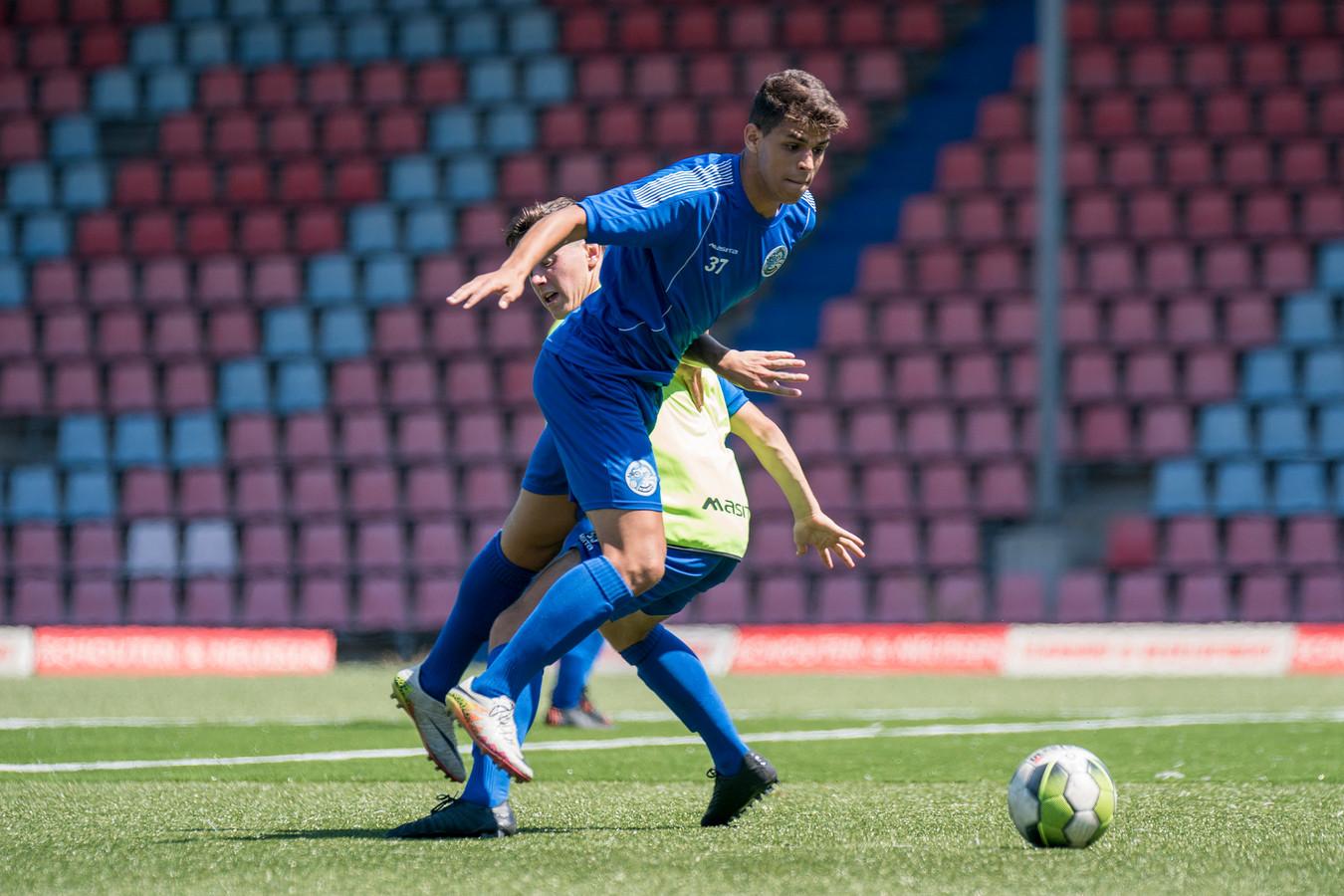 Saad Laazizi in juli 2018 op de training bij FC Den Bosch