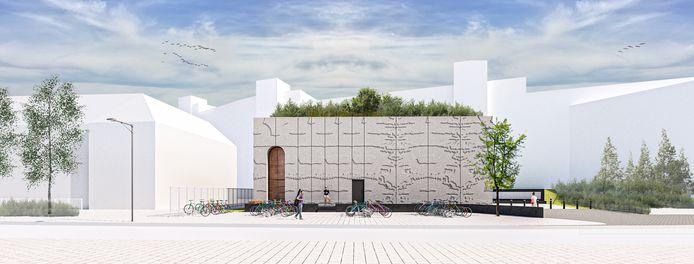 Het ontwerp van het nieuwe Merleyn aan de Nieuwe Marktstraat in Nijmegen
