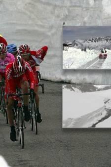 Dik pak sneeuw bedreigt zware bergritten in de Giro
