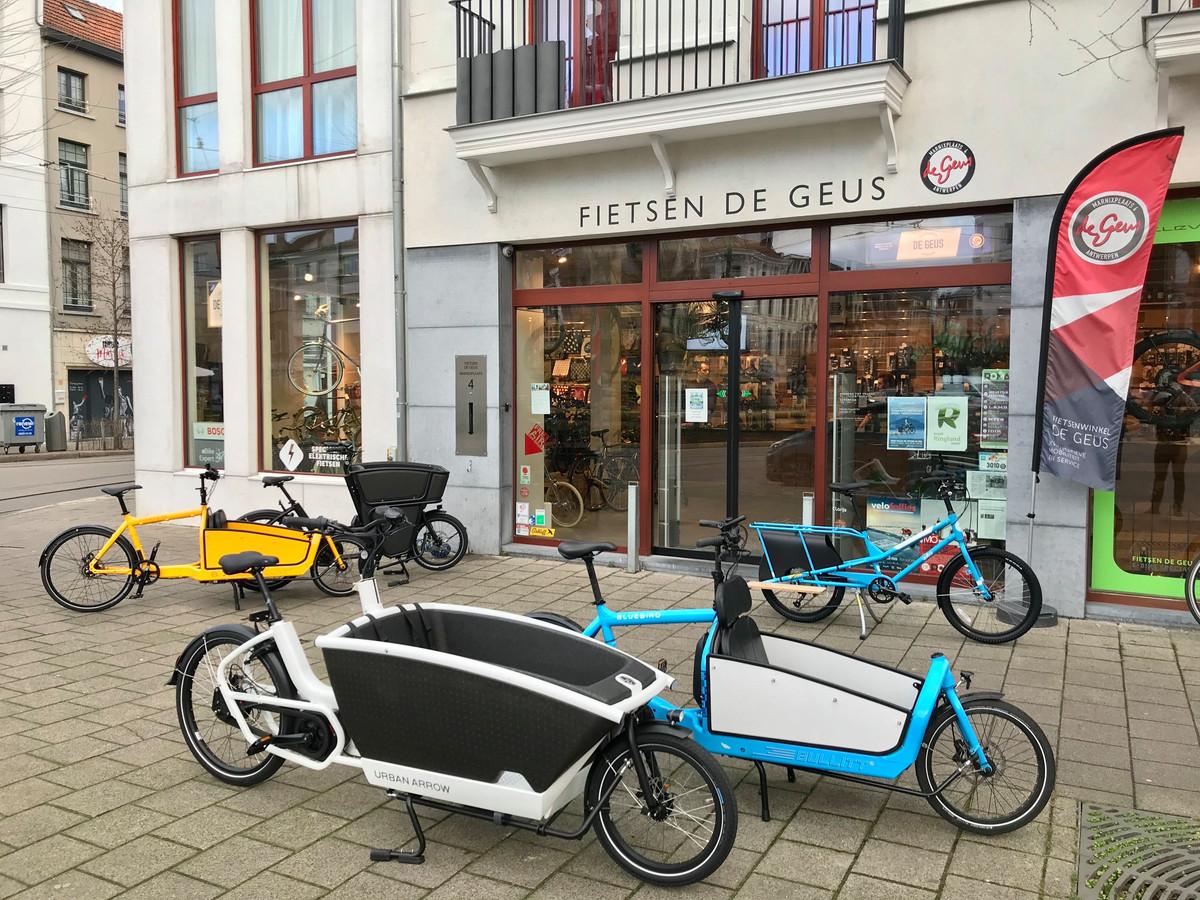 Niet al te grote leveringen passen perfect in een cargo bike.